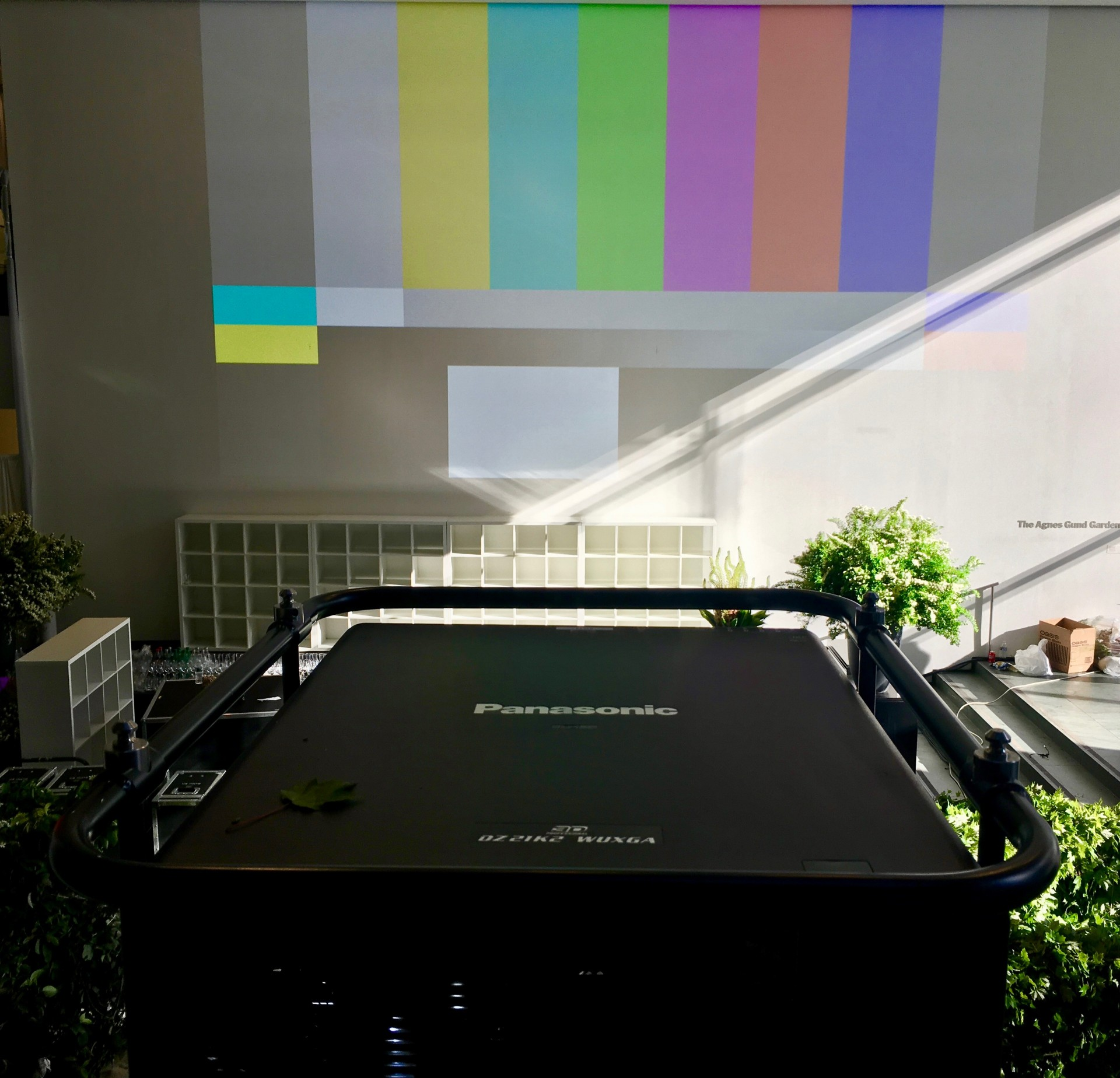 A pair of 21K projectors unable to overpower daylight