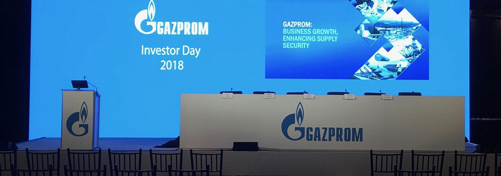 LED PANELS FOR GAZPROM INVESTORS DAY IN NYC