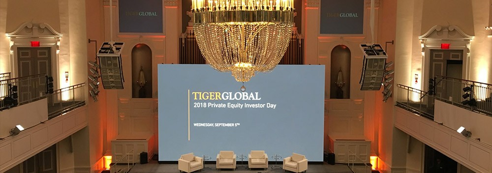 LED WALLS FOR THE TIGERGLOBAL CONFERENCE IN NYC