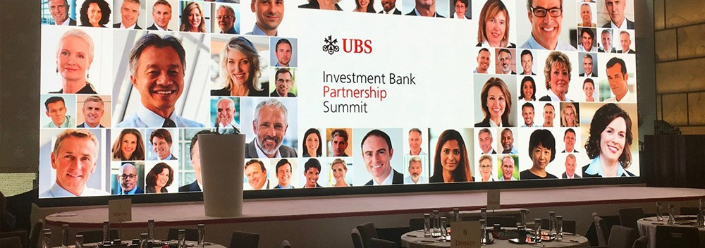 LED PANELS FOR UBS INVESTMENT BANK PARTNERSHIP SUMMIT IN NYC