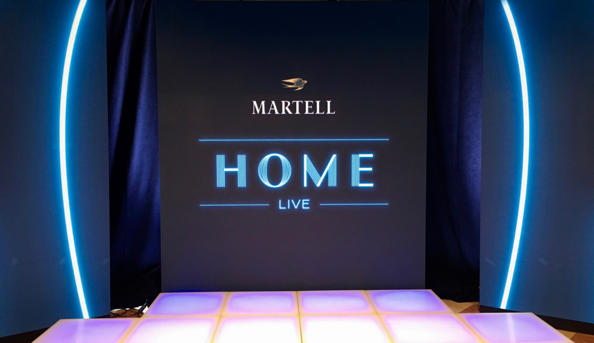 LED VIDEO WALL for the presentation of the brand Martell