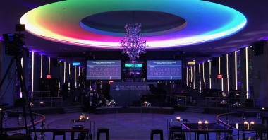 Projector screens for Alicia Keys with Chic Corea at Rainbow Room, Recording Academy