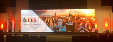 LED screen for UBS corporate meeting