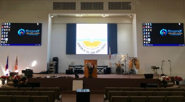 LED Video walls installation at a house of worship