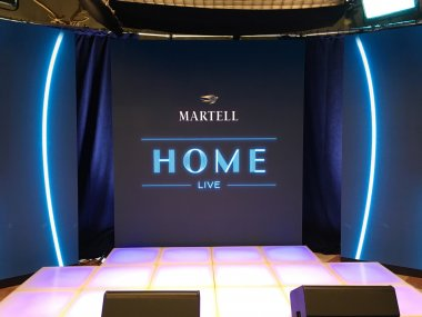 Martell Home live broadcast with ultra-small pitch LED video wallLong Island, NY, 2019
