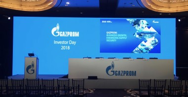 Gazprom Investor's meeting NYC rental LED Video Wall