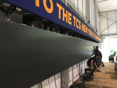 marathon LED screen build