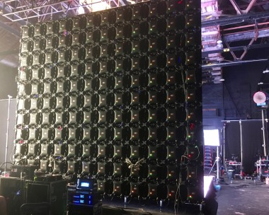 LED wall for broadcast studio backdrop