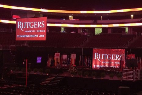 DLP Projection and Studio Camera package for Rutgers Graduation ceremony