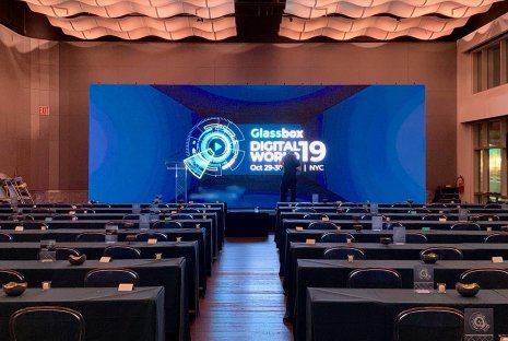 LED Video Wall for Glass Box Digital World Conference in NYC