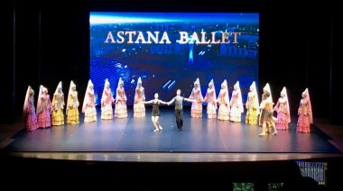Astana Ballet from Kazakhstan @ Lincoln Center.Backdrop LED screen