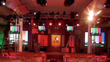 Azteca TV event preparations