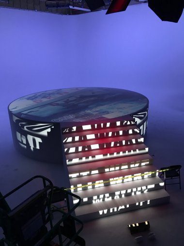 3D projection mapping for a commercial shoot, Brooklyn, NY 2019