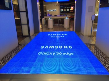 Samsung S6 launch.New York, NY. 6mm LED dance floor