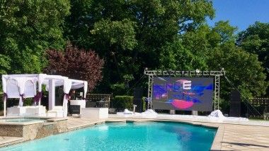 Pool party Long Island, NY - outdoor super bright LED video screen