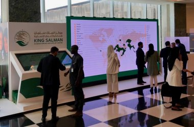 King Salman exhibit at the UN.NYC 2019, Coleder Road Ready 2.9mm indoor LED wall