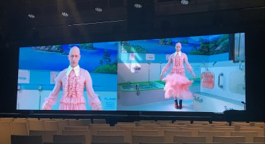 Conde Nast conference, NYC, 2019. 40-foot small pitch LED screen