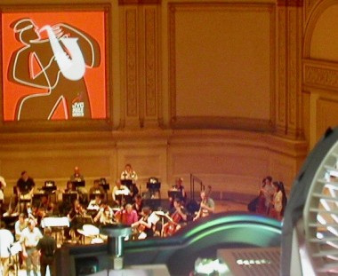JVC Jazz @ Carnegie hall, Spike Lee with Herbie Hancock, Michael Brecker and NY Philharmonic orchestra. High power digital video projectors