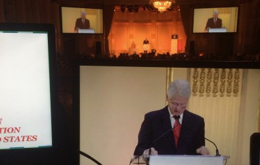 President Bill Clinton @ Plaza hotel, NYC Projection screens with Panasonic 10K projectors, Panasonic video camera package
